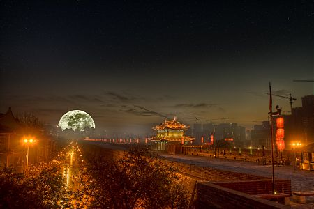 Full Moon Over Xi'an