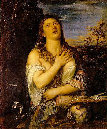 Вечеллио Тициан - Кающаяся Мария Магдалина