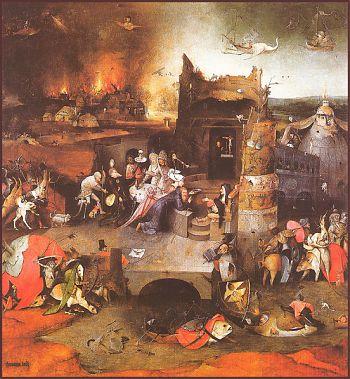 Иероним Босх - Искушение Святого Антония