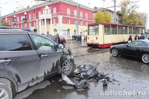 Mazda CX9 vs. Трамвай