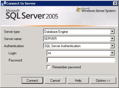 MS SQL 2005 подключение к инстансу по-умолчанию