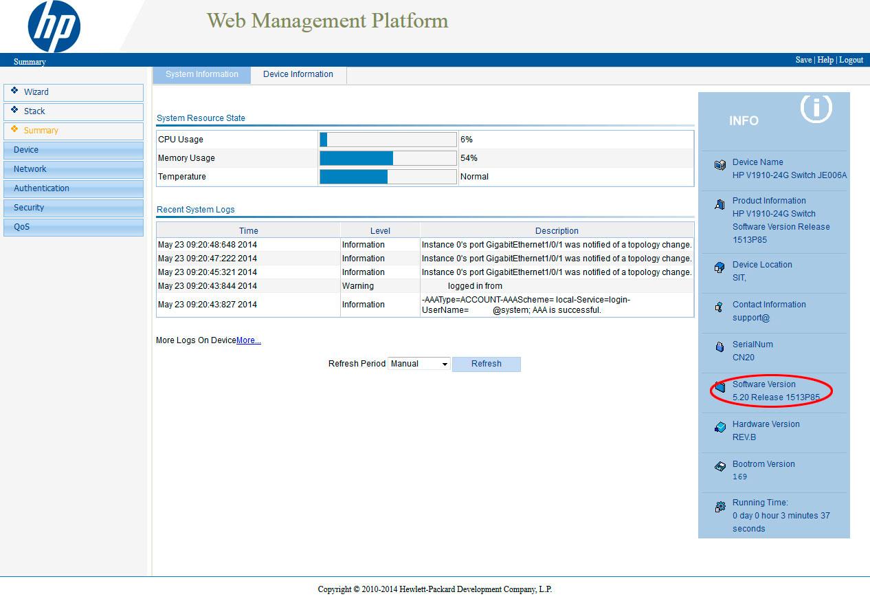 3com baseline switch 2952 firmware download