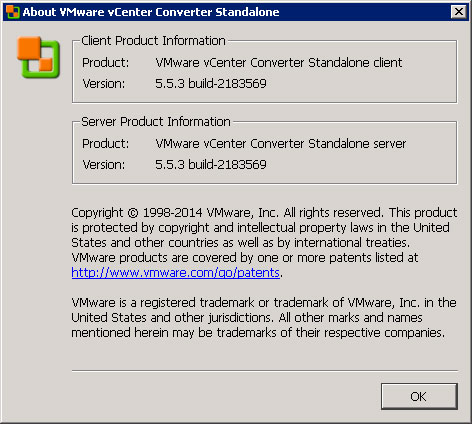 VMware vCenter Converter Standalone Client 5.5.3 build-2183569