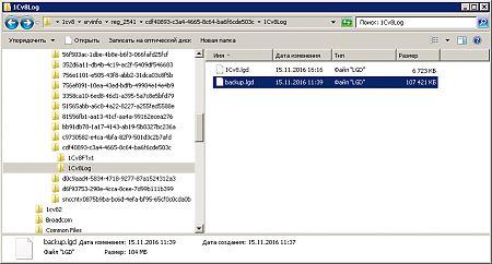 Сокращенный файл журнала регистрации