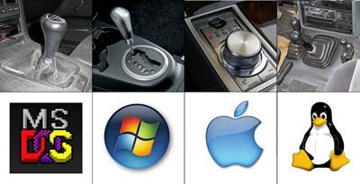 Сравнение операционных систем с коробками авто