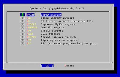 phpMyAdmin config
